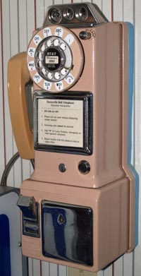 it is among the last 3-slot pay telephones made by western electric before  the development of the single-slot pay phone,